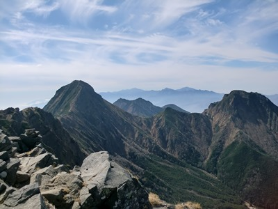 横岳山頂風景